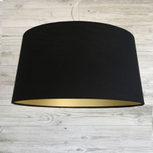 Large French Drum Midnight & Gold